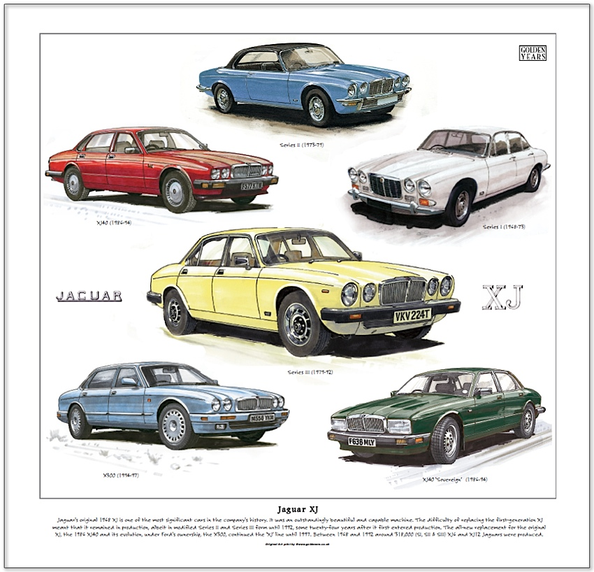 Awesome Jaguar XJ. Fine Art Print. Print Size: 330mm X 315mm (13 Pictures Gallery